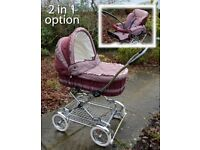 Silver Cross Classic pram - 1990s pushchair combo crib - baby Mosses carriage stroller - delivery