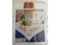 New Cross Stitch Table Runner kit by Vervaco {Pass your time with this lovely hobby}