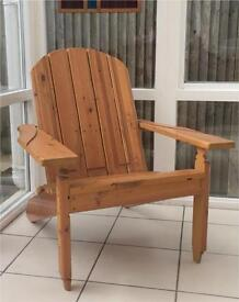 Adirondack Chair (Cape Cod Patio Veranda 100% Reclaimed Timber)