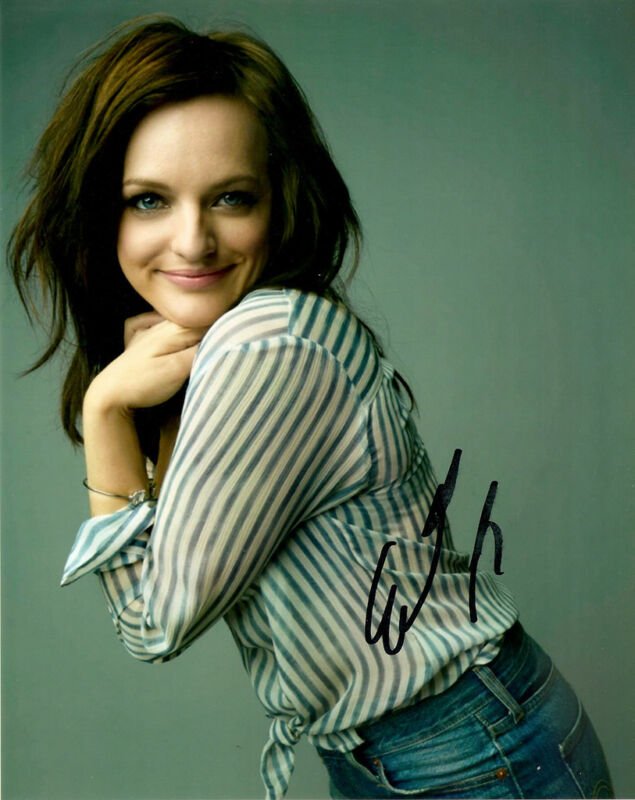 Elisabeth Moss Mad Men signed 10x8 photo Registered Online AFTAL & UACC [12058]