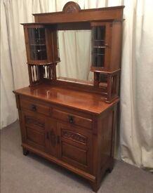 Antique Mahogany Dresser Sideboard