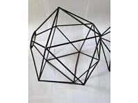 Habitat geometrical light fittings x3