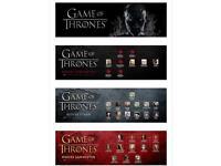 Game of Thrones complete box sets season 1, 2 & 3 GENUINE DISCS