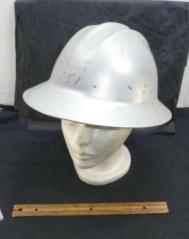 Vintage Metal Aluminum Bullard Hard Boiled Work Safety Hat Helmet !!