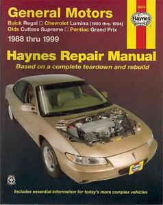 38010-HAYNES-REPAIR-MANUAL-CHEV-LUMINA-BUICK-REGAL-OLDS-CUTLASS-PONTIAC-GRAND-VG