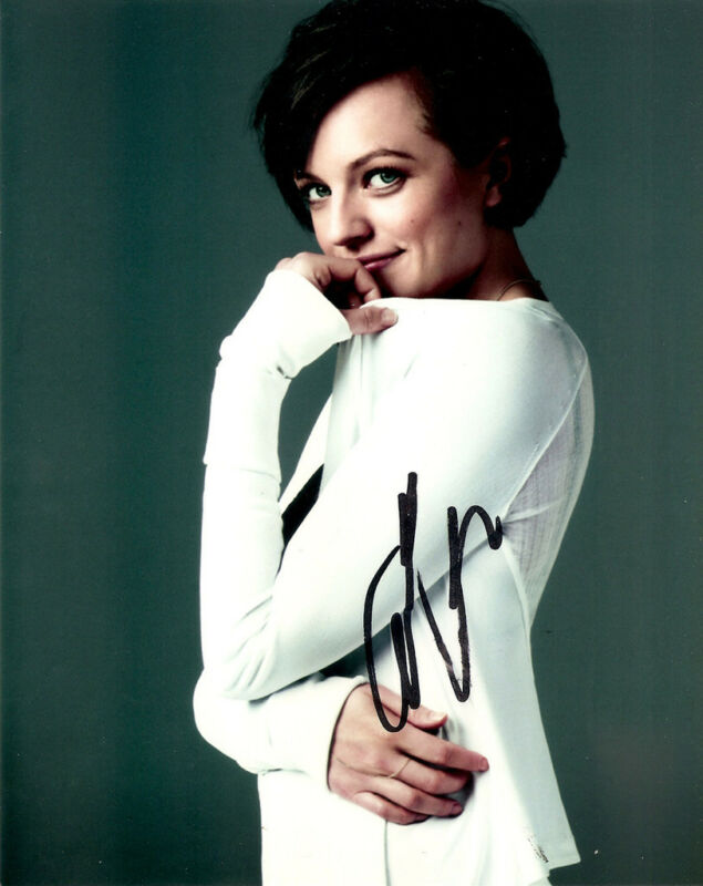 Elisabeth Moss Mad Men signed 10x8 photo Registered Online AFTAL & UACC [12055]