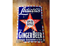 * Wanted old advertising metal sign antique vintage shop enamel