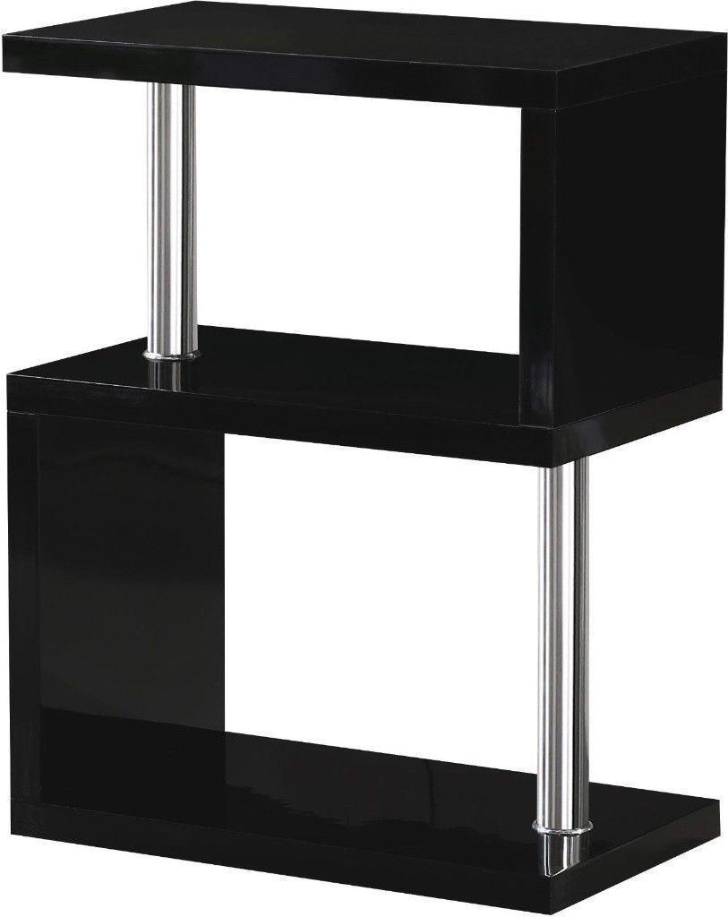 ***BRAND NEW BUILT***Black High Gloss / Chrome 3 Shelf Display Unit W650mm x D400mm x H240mm CHARM