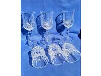 Crystal Sherry Glasses (Set of 6)