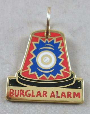 "Metal Pet Charm "" BURGLAR ALARM "" Dogs Pets Collar Tag  ID Gift Gifts"