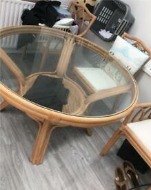 Bamboo table comes with 4 chairs