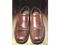 Brown Leather Men's Shoes size 8