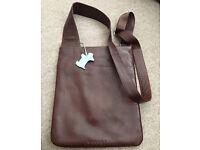 Radley small crossover handbag (dark brown)