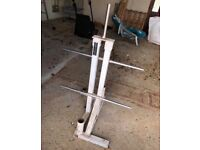 Olympic Barbell & Plate Weight Holder/Rack
