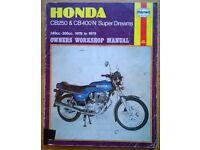 Haynes Honda (CB250 & CB400) Owners Workshop Manual