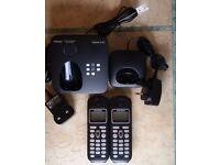 Siemens Gigaset AL285 digital cordless telephones with answer phone