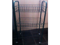 SMALL KITCHEN VEGETABLE TROLLEY