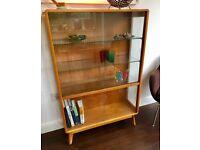 Mid Century Vintage Oak Display Cabinet