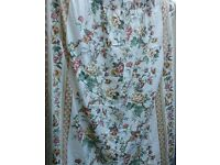 pair of floral curtains, lined back. each 170cm length x 160cm width. Excellent clean condition.