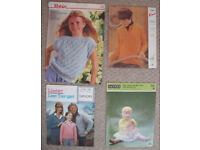 4 x vintage (1960s/70s) knitting patterns - baby, child & adult. £3 ovno the lot or £1 each