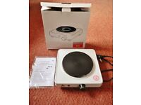 RS Pro GH9602 Single Electric Portable Boiling Ring / Hot Plate / Hotplate Cooking Hob 1500W White