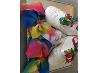 Girls Romany Spanish shoes laces and bows