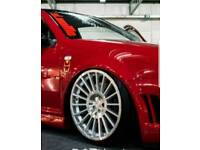 "19"" ROTIFORM IND ALLOYS 5X100 GOLF MK4 MODIFIED AIR RIDE SHOW CAR"