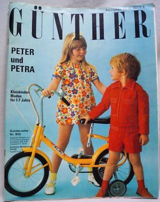 GÜNTHER PETER UND PETRA CHILDRENS CLOTHING FASHIONS MAGAZINE NO.910 LATE 1960s