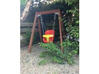 Wooden Garden Swing Plum