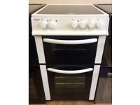 BUSH - White, 50cm Ceramic Top, Fan Assist ELECTRIC COOKER + 3 Month Guarantee + FREE LOCAL DELIVERY