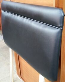 headboard for single beds. black padded faux leather. In excellent condition.