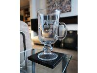 "IRISH COFFEE GLASS - Laser Engraved with ""Paddy's Irish Coffee"" BRAND NEW"
