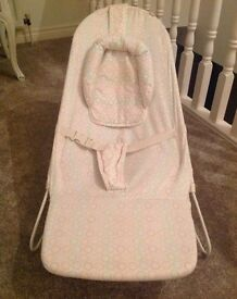 Baby bouncer with head support for newborns
