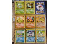 Almost complete 147/150 gen 1 Pokedex Pokemon card set joblot