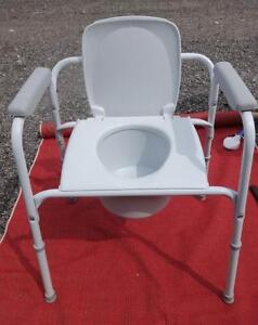 GERIATRIC INVALID TOILET COMMODE Self standing by Invacare  Very Sturdy - Never Used Oakville