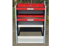 Van Racking / Shelving - BOTT - 2 Shelves - V G Condition - Includes Original Bracket & Bolts