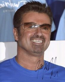 GEORGE MICHAEL - ENGLISH SINGER-SONGWRITER - SIGNED 10X8 PHOTO + COA