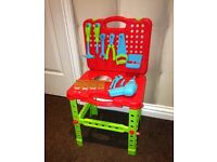 Boys blue tools and workbench *excellent condition*