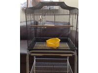 Bird Cage with Stand in perfect condition