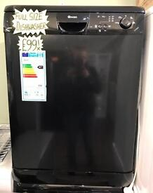 BRAND NEW FULL SIZE DISHWASHER IN BLACK ABSOLUTE BARGAIN...!!