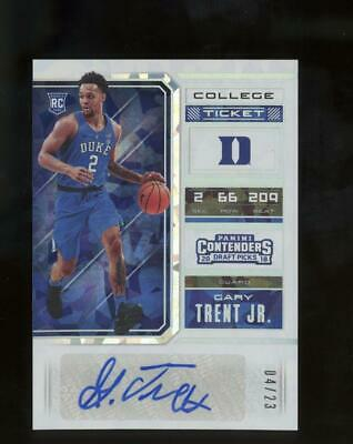 2018 Panini Contenders College Ice #67 Gary Trent Jr /23 Auto Autograph RC