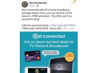 BT infinity 1 with £125 reward card ends Monday