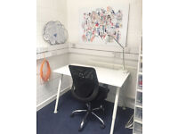 Small desk to rent in tiny but bright office at Aardman Animation BS1