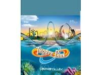 Thorpe park ticket Friday 27th July school holidays