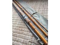 Vintage E A Rudge Hollow Glass 12' Course Fishing Rod. Excellent Condition
