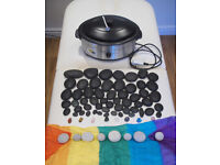 Hot Stones set with Heater