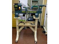 RECORD DML305 6 SPEED WOODTURNING LATHE + STAND + CHUCKS + TOOLS