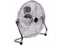18 inch Hi-Velocity Chrome Floor Fan (60w)
