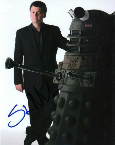 STEVEN MOFFAT.. with Doctor Who's Dalek - SIGNED