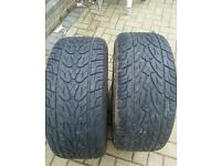 """2 x kumho 255 60 r15 size 15"""" tyres 4x4 very good condion and thread"""